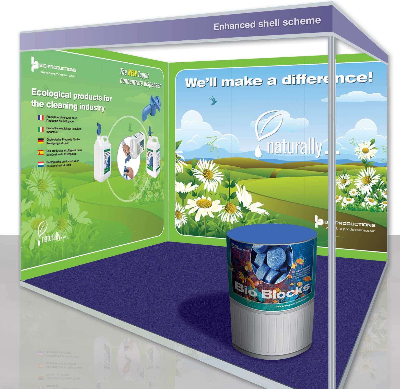 Shell scheme exhibition graphics (trade booths)