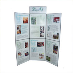 Low cost graphic panel exhibition folding kits