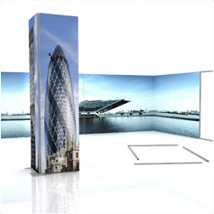 Polyester fabric graphics & tensioner display systems