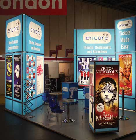 Custom built modular exhibition stands