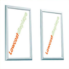 Exhibition and retail graphic poster frames