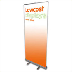 Low cost exhibition roller banner displays